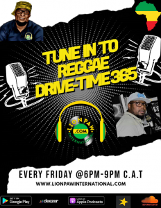 365 Reggae Drive Time with Lion Paw Intl. @ Lion Paw Intl App
