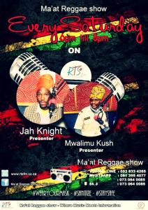 Ma'at Reggae Show with MwalimuKush Sa-Ra @ Radio Teemaneng Stereo 89.1 FM